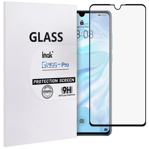 Full Coverage Tempered Glass Screen Protector for Huawei P30 - Black